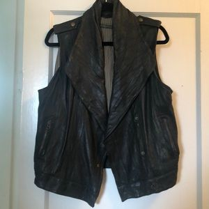 Jackets & Blazers - Mike & Chris brown leather vest